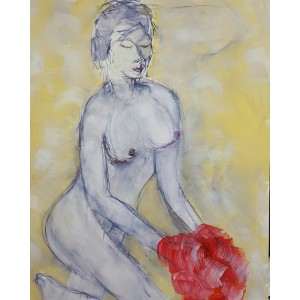 1500 EUROS : femme au pull rouge