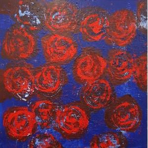 1500 euros: Fleurs rouges 1